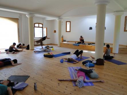 Photo made inside the Eftalou Yoga Hall, Molyvos, Lesvos, Greece