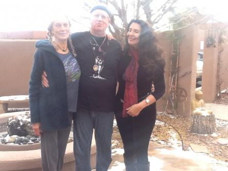 Photo of Angela Farmer, Victor van Kooten and Rama Joti Vernon