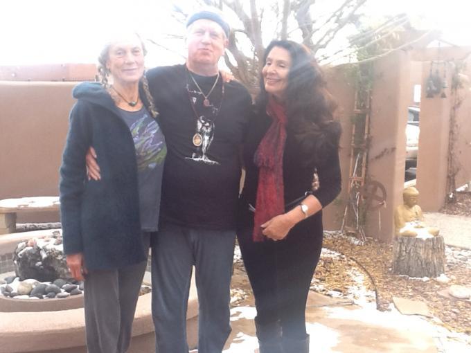 Photo of Angela Farmer, Victor van Kooten and Rama Joti Vernon